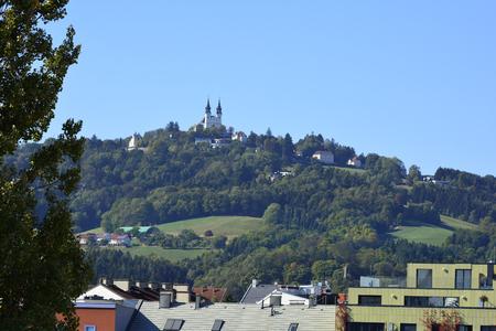 pilgrimage: Austria, pilgrimage church on Poestlingberg, landmark in Linz Stock Photo