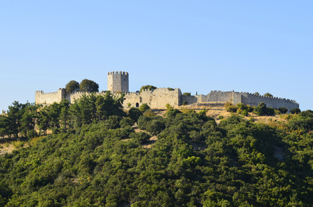 thessaly: Greece, medieval castle of Platamon Editorial