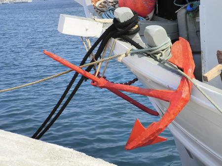 skiathos: Greece, Skiathos, colourful anchor Stock Photo