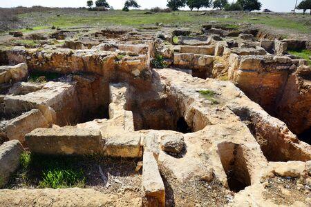 barnabas: Cyprus, excavation of ancient building at Saint Barnabas monastery