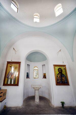 barnabas: Cyprus, inside Saint Barnabas monastery Editorial
