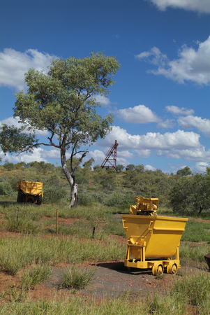 territory: old mining equipment in Tennant Creek in Northern Territory, Australia