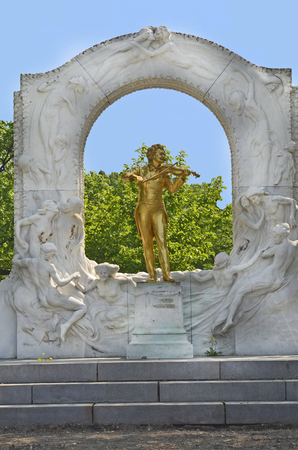 composers: Austria, Johann Strauss memorial in Vienna