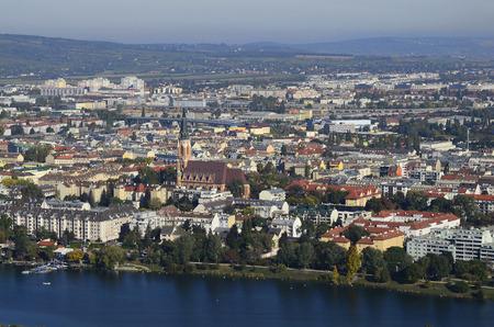 town planning: Austria, Vienna, Floridsdorf district and Alte Donau lake Editorial