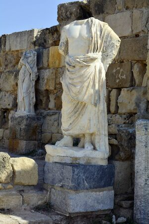 sculptures: Cyprus, sculptures in ancient Salamis Stock Photo