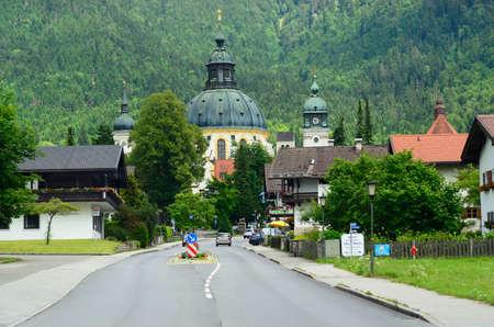 ettal: Ettal, Germany - June 27th 2014: Village of Ettal with impressive monastery in Bavaria Editorial