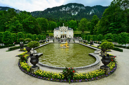 ludwig: Germany, Linderhof palace in Bavaria one of the castles of former king  Ludwig II