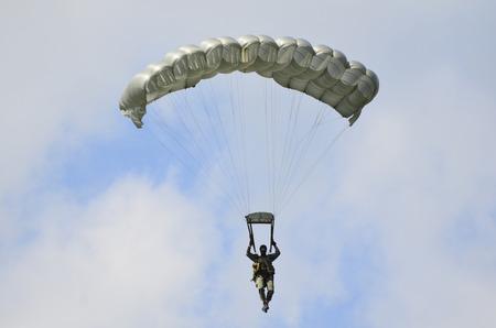 troop: Zeltweg, Austria - July 1st 2011: para troop of the Austrian army by airshow - airpower11 - in Zeltweg, Styria