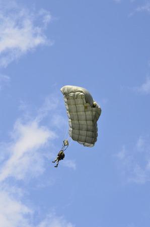 troop: Zeltweg, Austria - July 1st 2011: para troop of the Austrian army by airshow - airpower11 - in Zeltweg