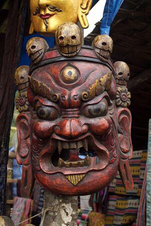 buddhismus: Masken beim Thangbi Lhakhang im Choekhor Tal bei Jakar (Chakhar) der Hauptstadt von Bumthang