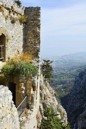 hilarion: Cyprus,medieval ruins of Saint Hilarion castle near Kyrenia aka Girne