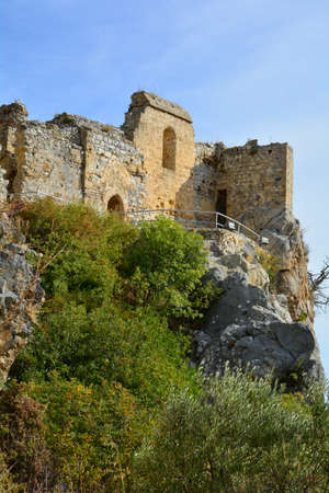 hilarion: Cyprus, part of medieval ruins of Saint Hilarion castle near Kyrenia aka Girne