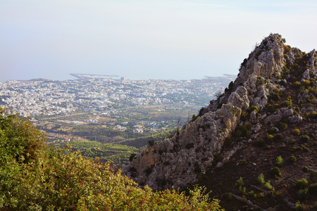hilarion: Cyprus, view from St. Hilarion castle to Kyrenia aka Girne