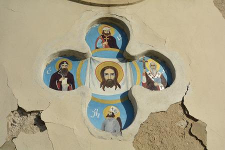 magdalena: Prague, Czech Republic - religious paintings on chapel Maria Magdalena Stock Photo