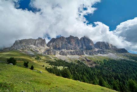 rosengarten: Italy, Rosengarten range in South Tyrol Stock Photo