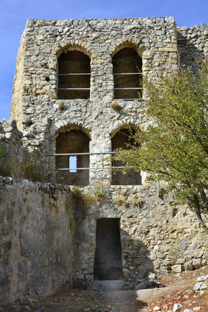 hilarion: Cyprus, tower in medieval ruins of Saint Hilarion castle near Kyrenia aka Girne