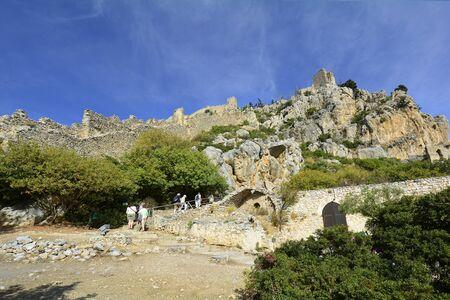 hilarion: Cyprus, impressive ruins of medieval Saint Hilarion castle near Kyrenia aka Girne