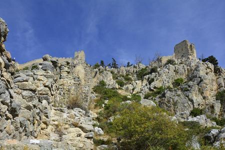 hilarion: Cyprus,  ruins of Saint Hilarion castle near Kyrenia aka Girne
