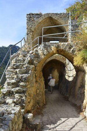 hilarion: Cyprus, ruins of Saint Hilarion castle near Kyrenia aka Girne Stock Photo