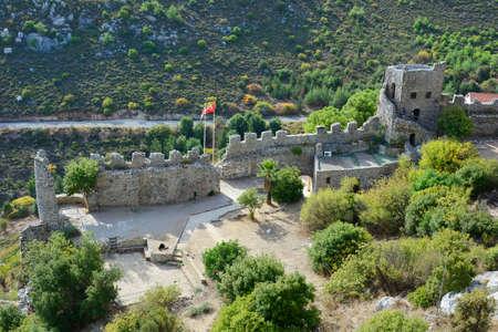 hilarion: Cyprus,  ruins of medieval Saint Hilarion castle near Kyrenia aka Girne