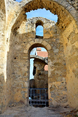 hilarion: Cyprus, impressive medieval ruins of Saint Hilarion castle near Kyrenia aka Girne Stock Photo