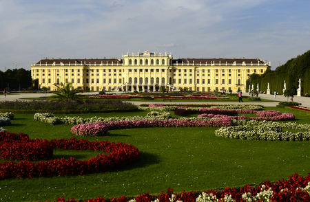 habsburg: Vienna, Austria, former Habsburg monarchy castle Schoenbrunn,   preferred tourist attraction and recreational park in Vienna