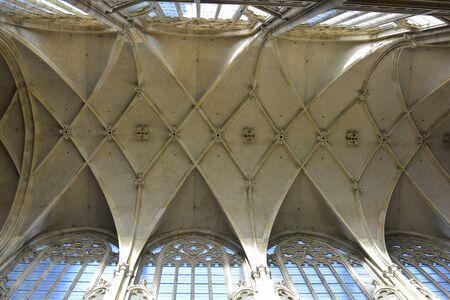 Prague, Czech Republic - ceiling of Saint Vitus cathedral