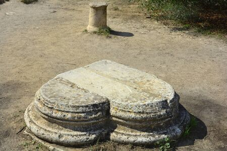 Cyprus, heartlike corner stone in ancient Salamis