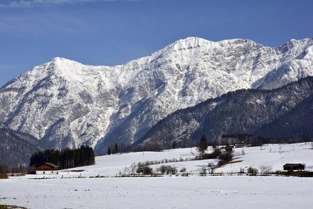 saalfelden: Austria, winter in Salzburg county with Leoganger Steinberge range