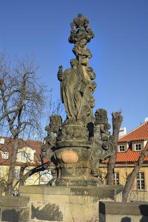 charles bridge: Prague, Czech Republic - sculpture on Charles bridge