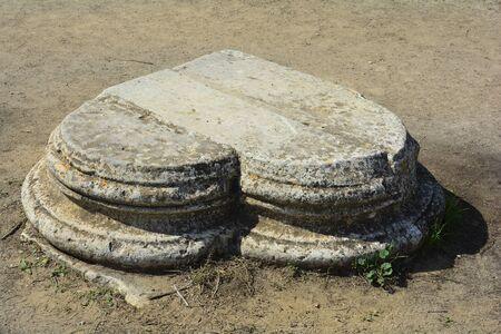 Cyprus, heartlike corner stone in ancient Salamis