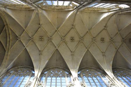 vitus: Prague, Czech Republic - ceiling of Saint Vitus cathedral