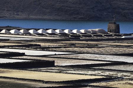 lanzarote: Salinas del Janubio, Lanzarote Stock Photo
