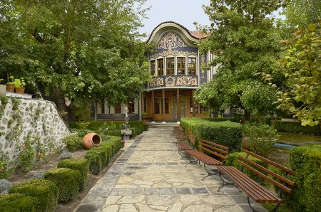 ethnographic: Plovdiv, Bulgaria October 3rd 2013: Ethnographic museum in Old Plovdiv - a Unesco World Heritage site and cultural capital 2019 Editorial