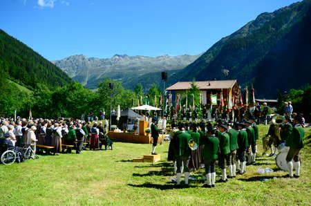 tyrol: Austria, traditional field mass in Tyrol