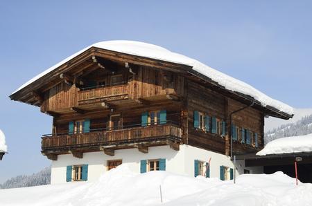 farmstead: Austria, farmstead in Tyrol Stock Photo