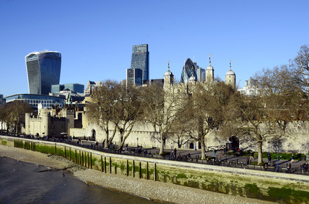 cheese grater: Great Britain, London, Tower of London and The Gherkin, Cheese Grater and Sky garden buildings behind