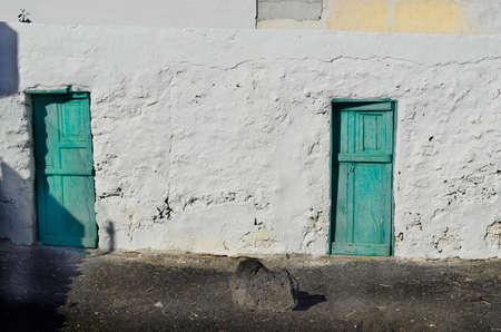 lanzarote: old buildings in El Golfo village in Lanzarote, Spain