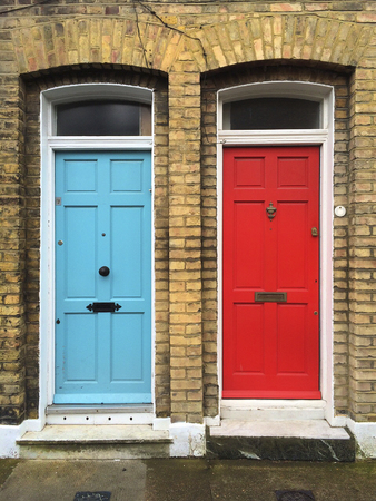 uk: UK, colorful doors in London Stock Photo