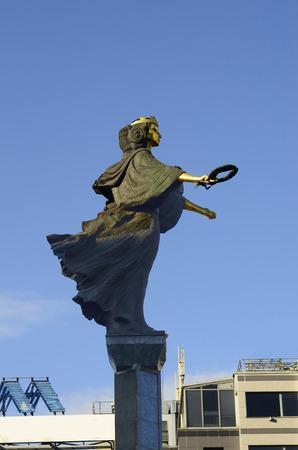 sveti: Sofia, Bulgaria - sculpture of Sveti Sofia on main square Serdika