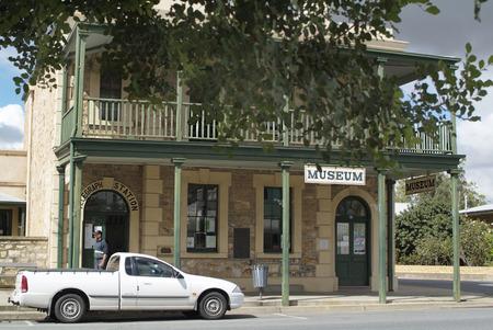 barossa: Tanunda, Australia - April10th 2010: Old office building in the tiny village in Barossa Valley, South Australia