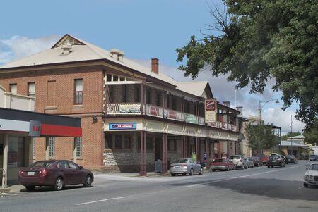 barossa: Tanunda, Australia - April10th 2010: Main Street in the tiny village in Barossa Valley, South Australia