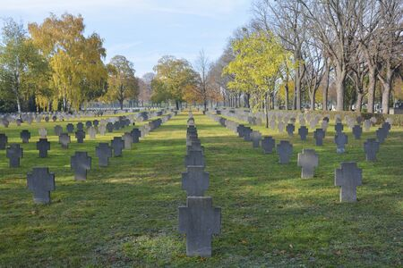 wwii: Austria, graves from WWII on Zentralfriedhof in Vienna