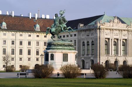 karl: Austria, Archduke Karl memorial on Heldenplatz in the Wiener Hofburg