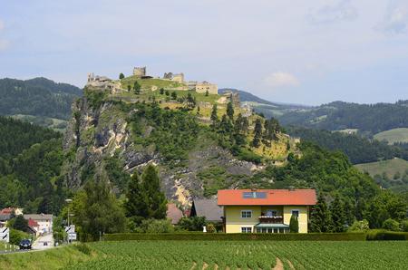 ruin: Austria, ruin and village Griffen in Carinthia