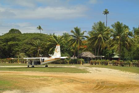 airstrip: Fiji, airstrip on Malolo Lailai island Stock Photo