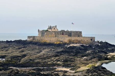 continued: France, Brittany, St. Malo, Fort National at low tide