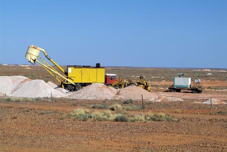 opal: opal mining in Coober Pedy, Australia Stock Photo