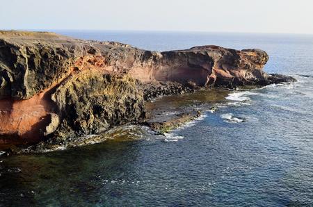 playa blanca: Spain, coast on Playa Blanca in Lanzarote Stock Photo