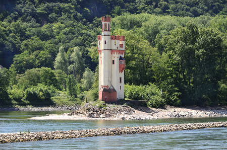 unesco: Germany, mouse tower building in Unesco world heritage site of Rhine valley Editorial